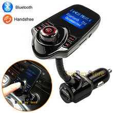 Super Hot Sale Bluetooth Car Kit Handsfree MP3 Player FM Transmitter Dual 2 USB Charger Support SD Card & Line-in AUX