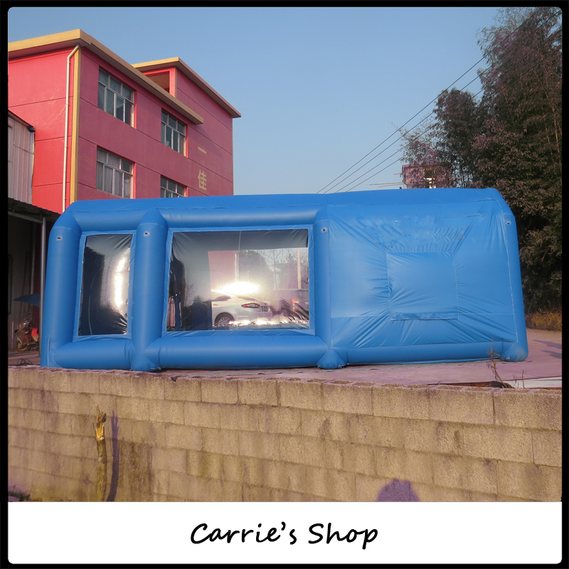 Environmental portable light blue color car spray booth(China (Mainland))