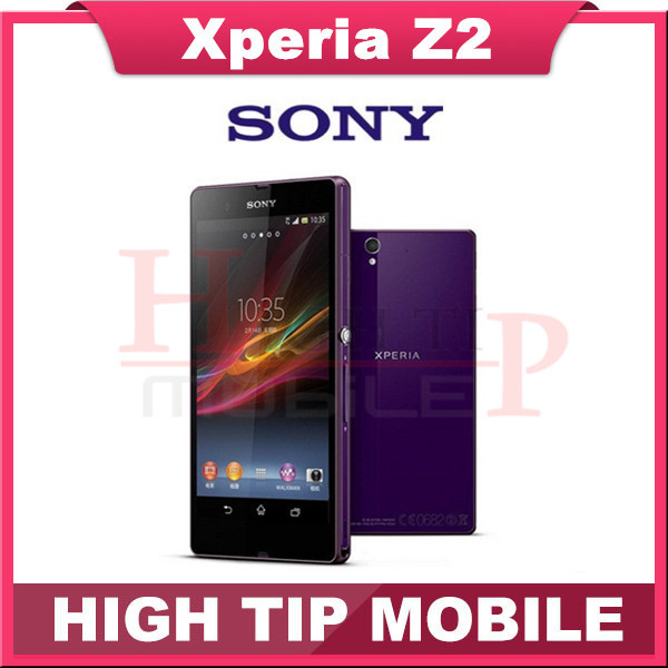 """Original Sony Xperia Z2 Mobile Phone 5.2"""" Quad Core Smartphone 3GB RAM 20.7MP NFC LTE Waterproof Cell Phones Refurbished Phone(China (Mainland))"""