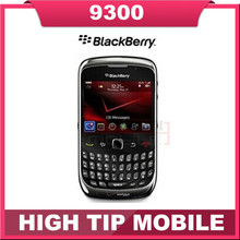 Refurbished original mobile blackberry curve 9300 3G qwerty keyboard quad band phone free shipping(China (Mainland))