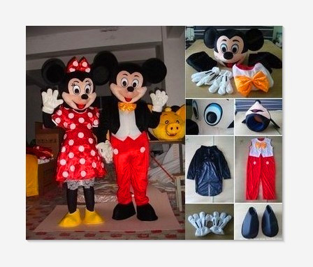 High quality Mickey mascot Minnie mouse mascot costume for Halloween, birthday parties, and other parties to use, fast shipping(China (Mainland))
