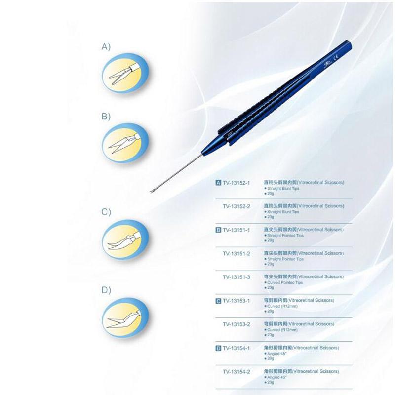 Vitreoretinal Scissors TV-13152/13151/13153/13154 Handipiece/ Phaco Sleeves<br><br>Aliexpress