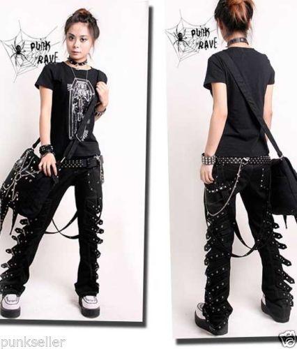 Punk Rave Rockabily Pants Fashion Mens Womens Gothic Streampunk EMO Trousers K95Одежда и ак�е��уары<br><br><br>Aliexpress