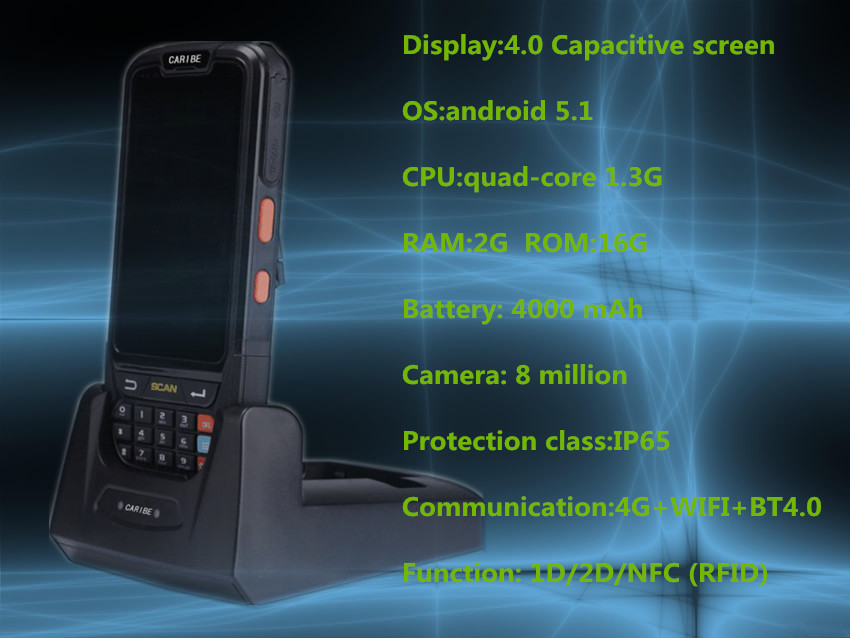 wifi ips screen 2d scanner smartphone