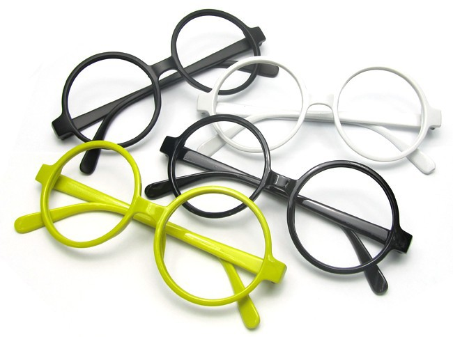Round Glasses No Frame : Women Men Glasses shelves Round Glasses Frame Eyeglasses ...