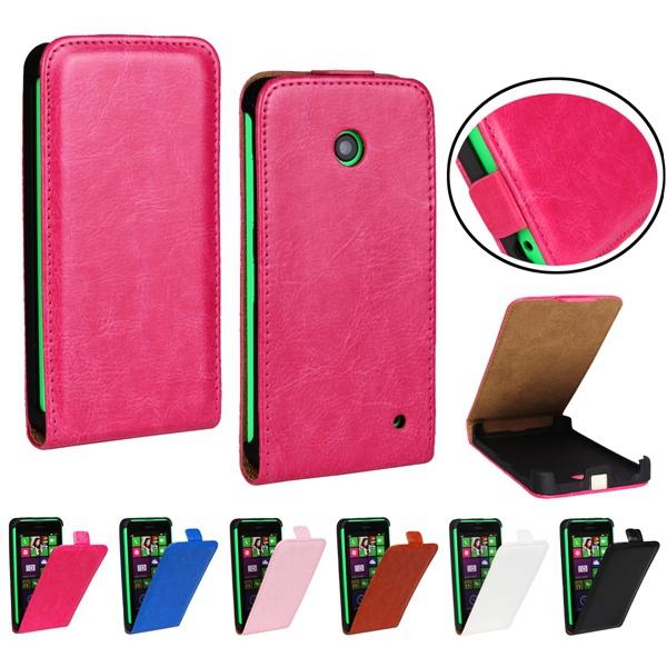 Retro Stylish Style Crazy Horse Leather Flip Case For Nokia Lumia 630 636 638 Mobile Phone Cover(China (Mainland))