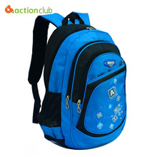 Actionclub High Quality Large School Bags Boys Girls Children Backpacks Primary Students Backpacks Waterpfoof Schoolbag Book Bag(China (Mainland))