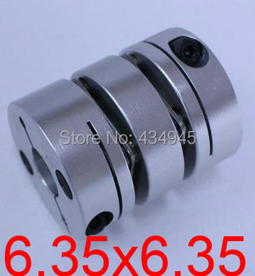 6.35x6.35 6.35mm Double diaphragm Disc coupling ,electric coupler screw rod Stepper servo motor encoder shaft coupling D26 L35(China (Mainland))