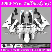 Buy Fairing Black white KAWASAKI NINJA ZX6R 94-97 ZX 6R 636 B12 ZX636 ZX-6R 94 95 96 97 1994 1995 1996 1997 black white +Decal for $445.00 in AliExpress store