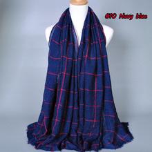 NEW design Big size fashion printe NICE Plaid 100% polyester cotton long shawls muslim hijab winter wrap scarves/scarf(China (Mainland))