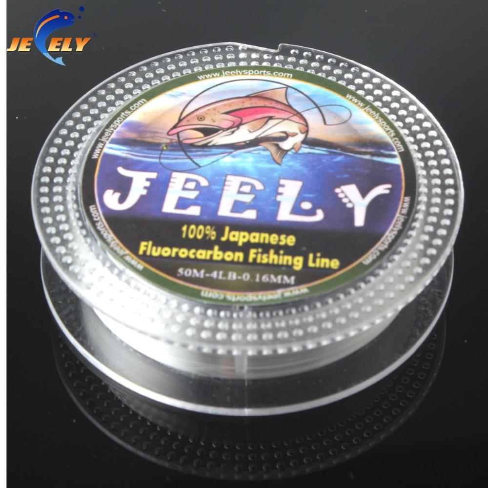 Free Shipping 50m 100% Japanese Fluorocarbon Material Leader Fishing Line 4lb 6lb 7lb 8lb 9lb 10lb
