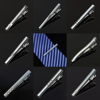 2016 New Stainless Steel Tie Clip Pin Clasp Toned Wedding Metal Tie Clips For Men Gift wholesale