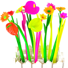 6PCS Bloom Flora Flowers Pen Design Ballpoint Pens Stationery Gifts Kawaii Ballpen School Office Material Supplies Accessories(China (Mainland))