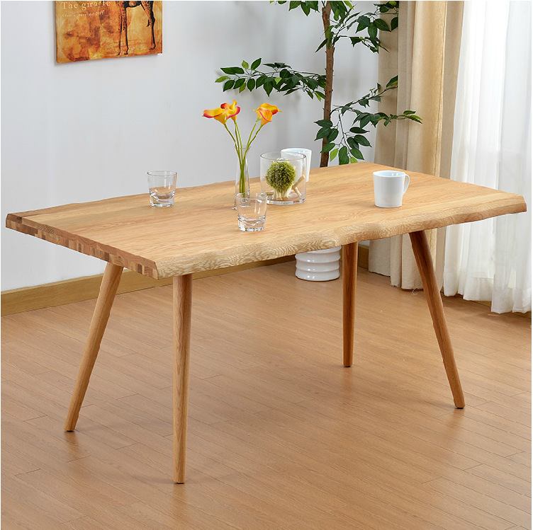 White oak solid wood dining table and chair / modern and contracted Nordic table(China (Mainland))