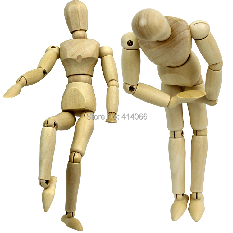 5.5 inch joints wood Wooden mannequin toy / wooden puppet / wooden manikin Home Decoration Model,Painting sketch Free shipping(China (Mainland))