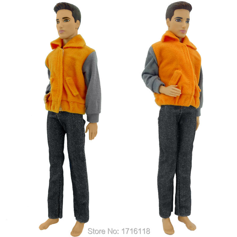 1 Set Authentic Handmade Sportswear Vogue Outfit Garments For Barbie Boyfriend Prince Ken Male Dolls Equipment Good Child Items
