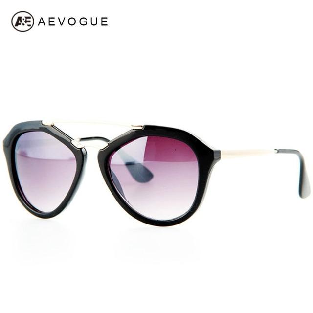 Aevogue ретро солнечные очки тавра женщины двойной мост дизайн очки 5 цветов бабочка металл храм солнцезащитные очки UV400 AE0169