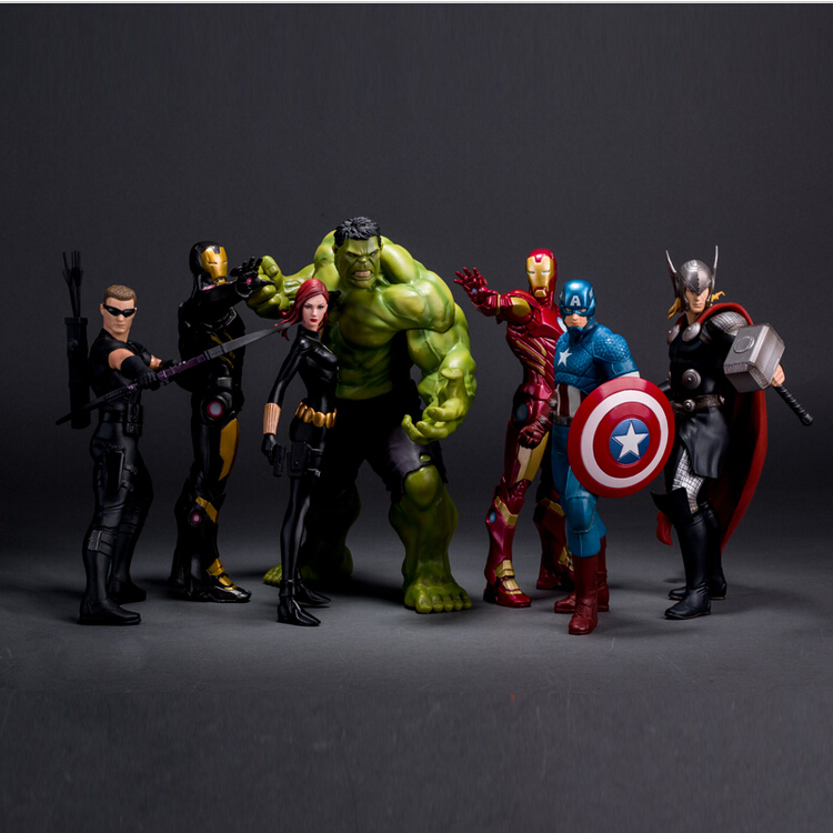 Crazy Toys Avengers 2 Age of Ultron Iron Man Black Widow Hawkeye Captain America Thor Hulk PVC Action Figure Toy doll<br><br>Aliexpress