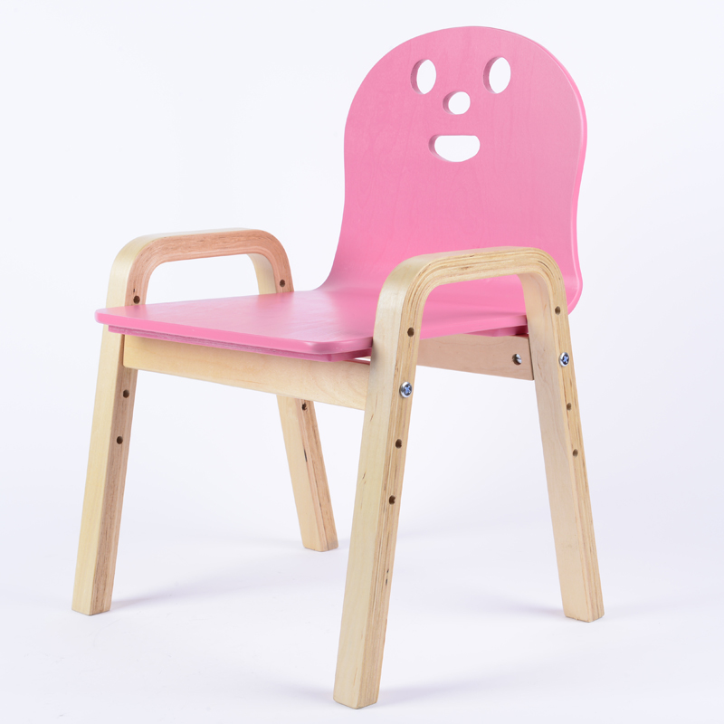 Solid wood child stools chairs backrests birch armrest for Child on chair