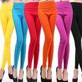 Hot 20 Colors Candy Color High Quality Elastic Fitness Leggings Women Sport Leggings Pants Running Training