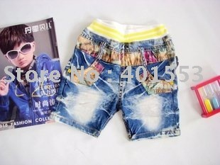 Mixed  Free Shipping Wholesale 10pc/lot children jeans,short pants,shorts baby clothing children's jeans fashion jeans/956