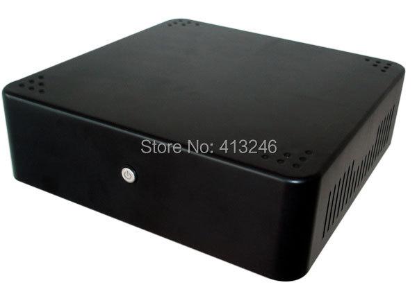 2015 MINI ITX HTPC VESA car chassis 19x19cm set-top box small computer chassis Mini Computer case(China (Mainland))