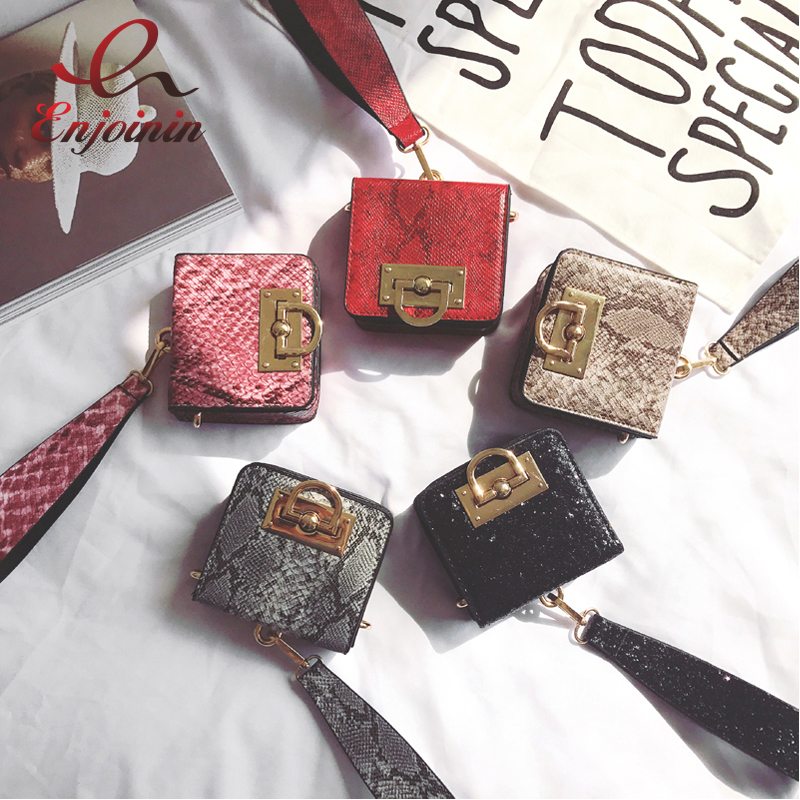 Fashion style new design serpentine mini box shape handbag shoulder bag ladies flap purse women's clutch bag 5 colors(China (Mainland))