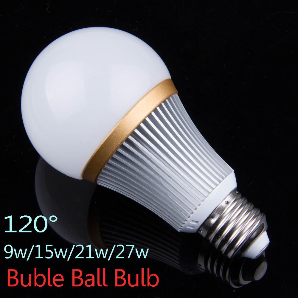 9W/15W/21W/27W LED Bubble Ball Bulbs Dimmable 110V 220V E27 Lamp Bombillas led Light Bulbs lampada Lamps Lights(China (Mainland))