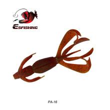 Esfishing pesca 실리콘 미끼 낚시 유혹 소프트 미끼 미친 flapper 110mm 11.4g 5pcs swimbait 잉어 낚시 태클베이스 미끼(China)