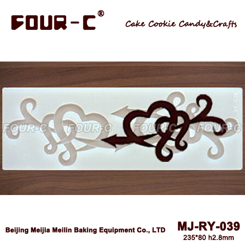 RY-039 Cupid heart shape chocolate mould makers,chocolate tools, baking decorating tools,plaster decor,chocolate molds(China (Mainland))