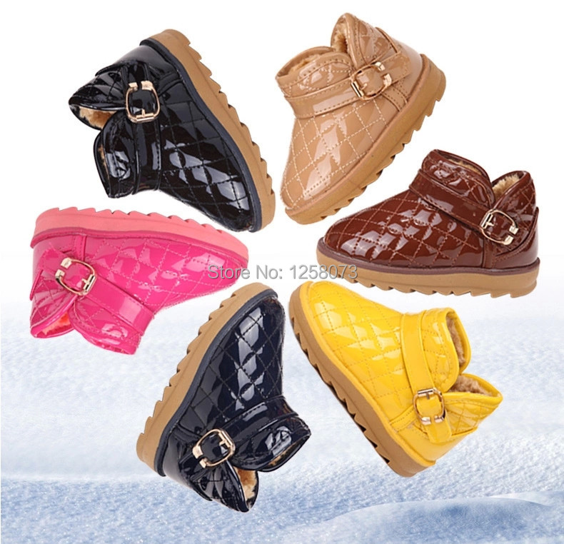 Free shipping! 2014 boys and girls children's snow boots winter boots baby cotton-padded shoes, plush not freeze(China (Mainland))