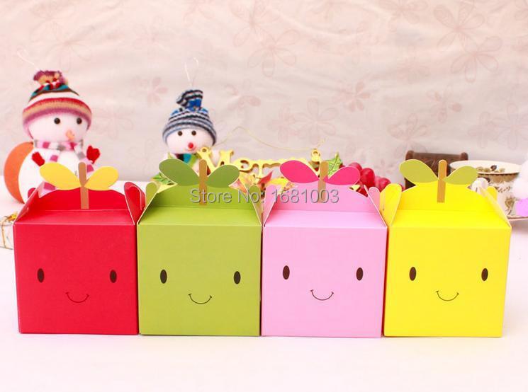 Free shipping 1000pcs/lot christmas apple box for christmas eve,christmas candy box for children(China (Mainland))