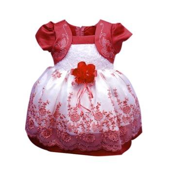 Новые дети девочки платья цветочные шифоновое платье костюм принцессы ну вечеринку платья размер 1-4Y