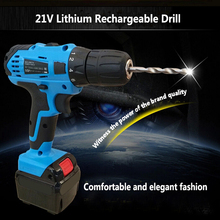 21V Lithium Battery Rechargeable Hand Drill Cordless and Screwdriver Mini Electric Drill Driver Tools Set Household Hand Tools