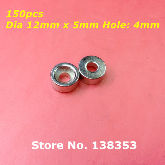 Wholesale 150pcs Super Strong Neodymium Countersunk Ring Magnets Dia 12mm x 5mm With Hole 4mm N35 Rare Earth NdFeB Magnet<br><br>Aliexpress