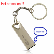 Hot gift ! Mini Keychain Metal Usb flash drive Pen drive Usb memory stick disk Custom logo USB2.0 1GB 2GB 4GB 8GB 16GB 32GB