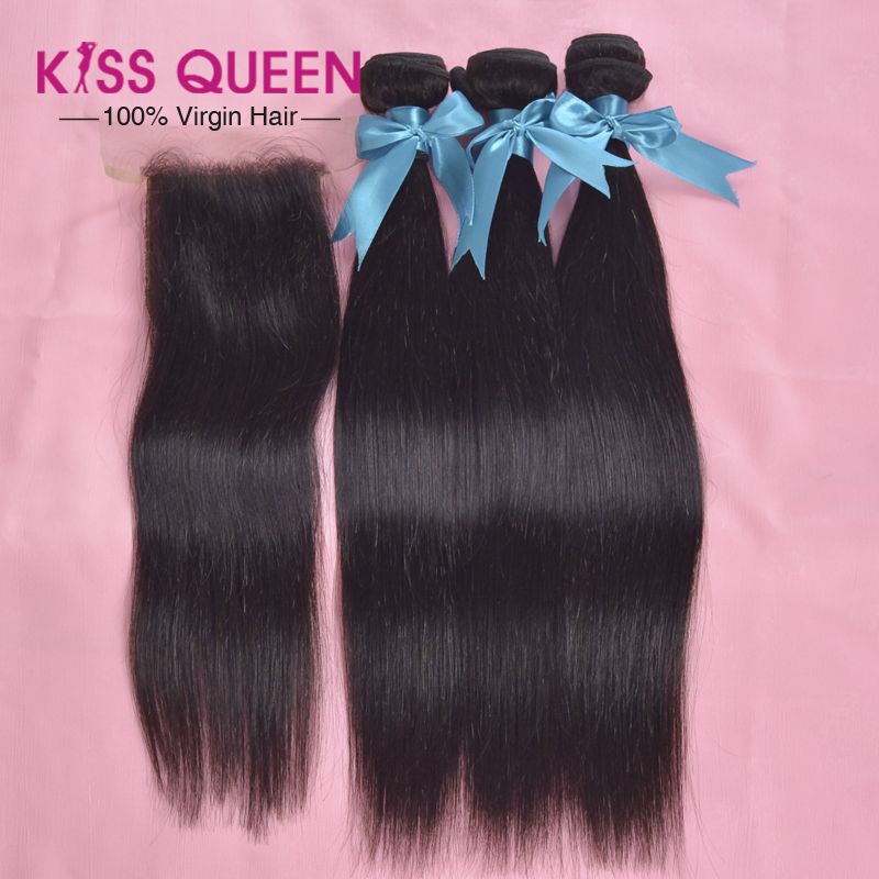 Affordable 7A virgin malaysian straight hair with closure 3 bundles cheap unprocessed malaysian hair with 1pc human hair closure<br><br>Aliexpress