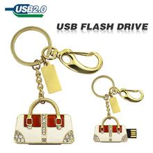 usb flash drive Golden and sliver handbag diamond bag U disk pen drive Gift Jewelry 4gb 8gb 16gb 32gb 64gb pendrive memory disk(China (Mainland))