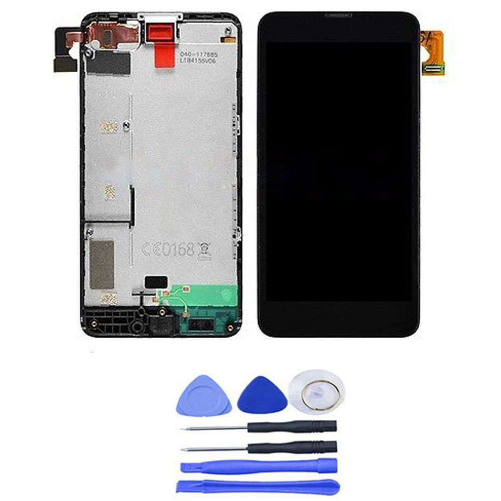 Black For Nokia Lumia 635/630 LCD Display Digitizer Assembly + Touch Screen Glass Panel + Frame Replacement with Free Tools(China (Mainland))