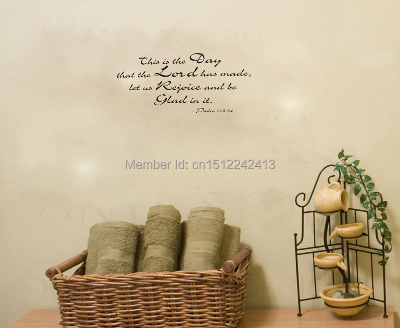 God Wallpaper Decor : The lord made this day god religious wall art decals home