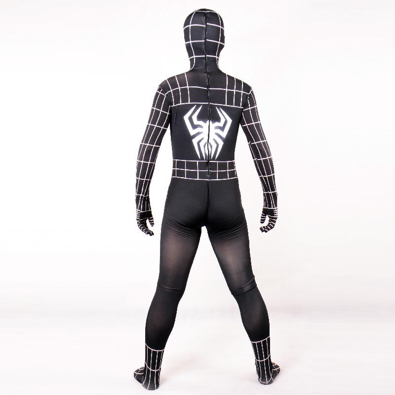 adult black Venom spiderman costume Halloween costumes for men SuperHero cosplay Lycra full BodySuit zentai Spider_man custom(China (Mainland))