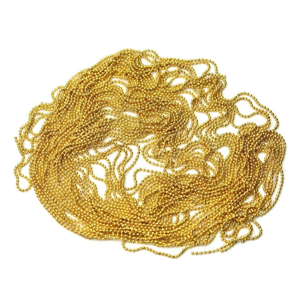 Glitter Alloy Beads Ball Line Chain Nail Art False Tips DIY Decorations (Gold,Bag of 3)(China (Mainland))