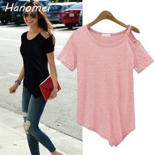 New Solid camisetas Summer Cotton t-shirt Fashion Tops 2017 Punk Rock tee shirt femme Off the Shoulder Strap T Shirt Women C487(China (Mainland))