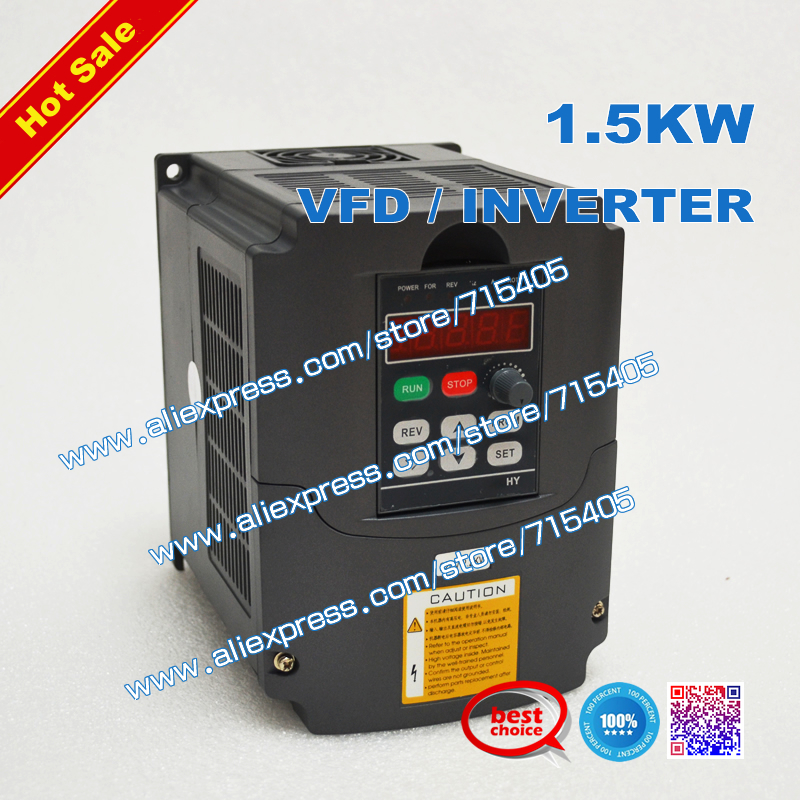 Variable Frequency Drive VFD Inverter 1.5KW AC 220V 7A for 1.5KW spindle(China (Mainland))