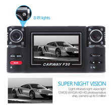 High quality 2 7 inch Dual Lens Camera Car DVR F30 Black HD LED Screen Dash