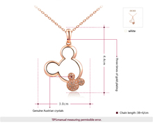 ROXI 2014 New Fashion Jewelry Rose Gold Plated Statement Cute Mickey Necklace For Women Party Wedding