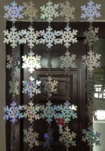 Free shipping, Christmas interior decoration, snowflake sequins curtain, PVC sequins laser snowflake, Christmas tree decoration.(China (Mainland))