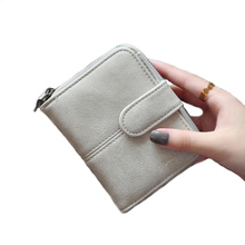 Korean Brand Design Women Faux Suede Leather Wallets Coin Bag Small Wallet Purse Mini Zipper Hasp Short Lady Purse Crad Holder(China (Mainland))