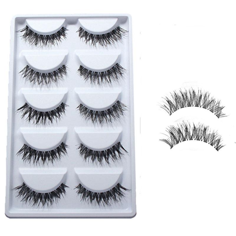 5 Pairs Beauty Makeup Mini Half Corner Black False Eyelashes Natural Eye Lashes Cosmetics(China (Mainland))