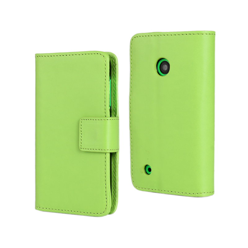 30 pcs/lot Card Slot Flip 100 Grain PU Leather Stand Wallet Case Cover Nokia Lumia 530